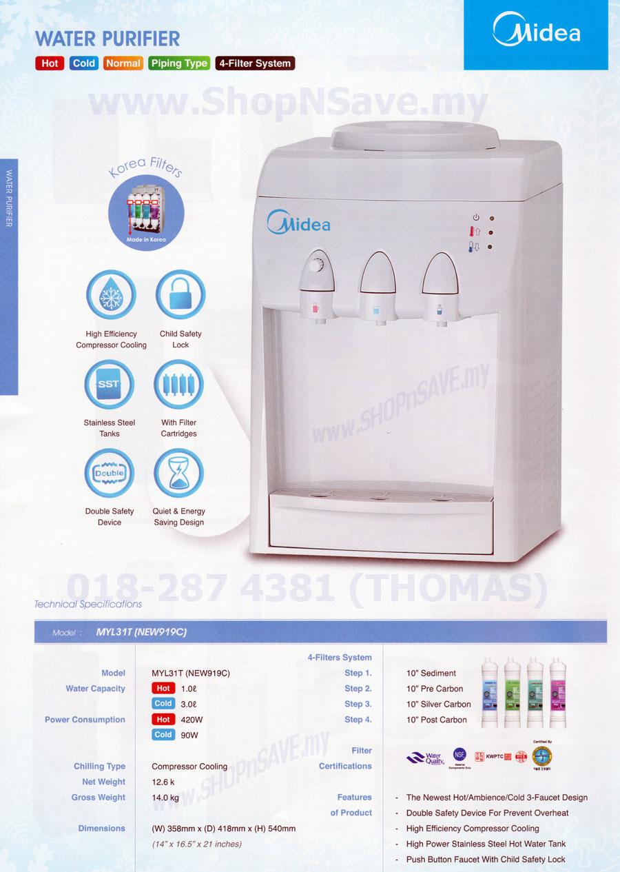 Water Filtration Dispenser Shopnsave Authentic Midea Hot Cold Dispenser Korea Water